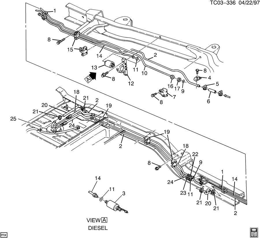 1994 Chevrolet K1500 FUEL SUPPLY SYSTEM-REAR