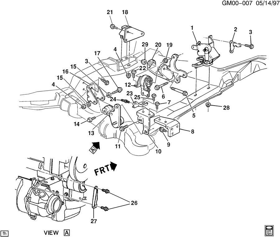 ENGINE & TRANSMISSION MOUNTING-V6 3.8-1