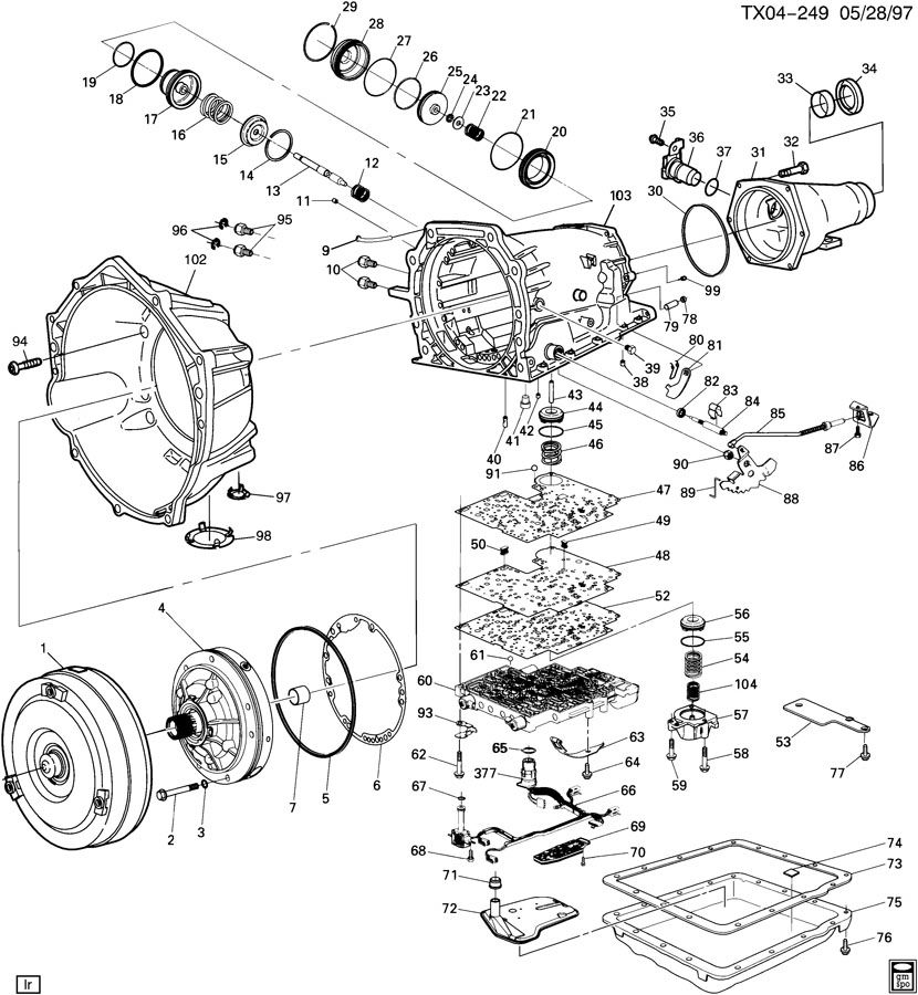 Gmc Hydra Matic Transmission Parts Diagram, Gmc, Free