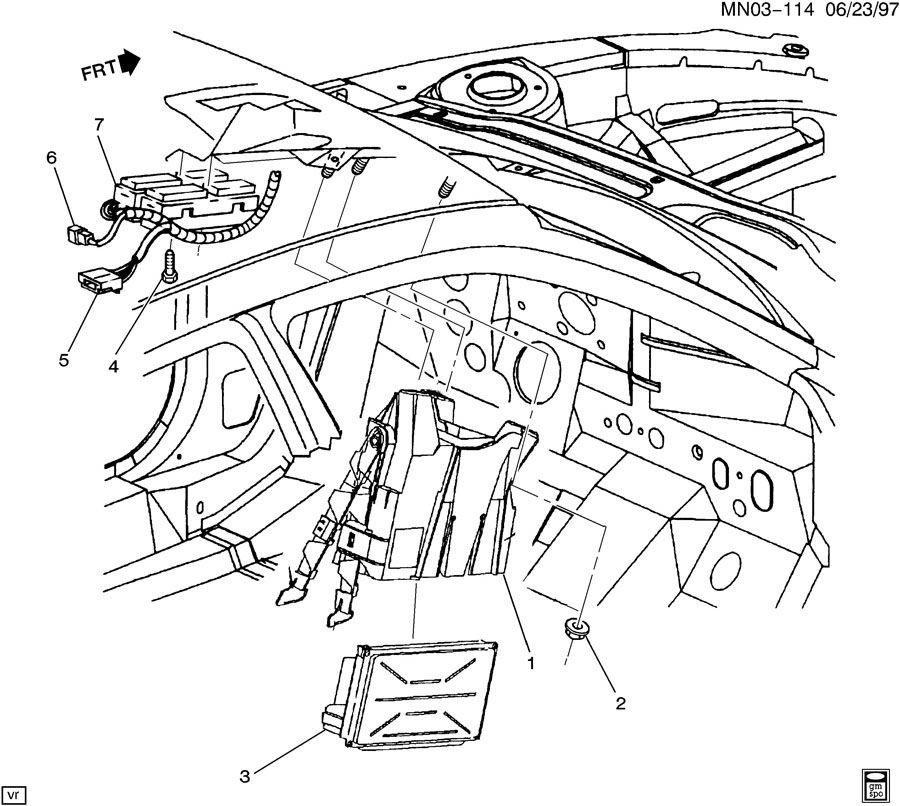 Oldsmobile Achieva P.C.M. MODULE & WIRING HARNESS