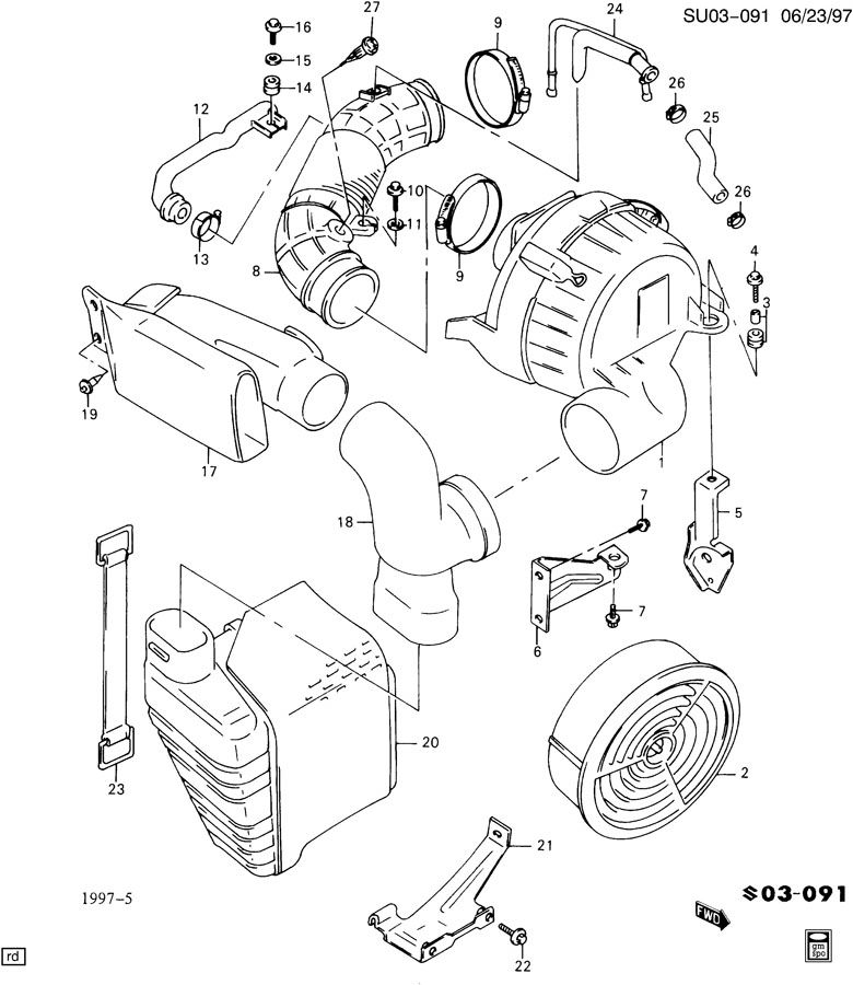 Chevrolet Sprint AIR CLEANER
