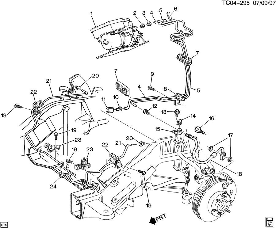 2002 Gmc sierra brake line diagram