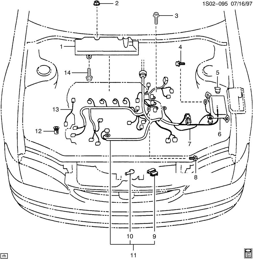 Chevrolet WIRING HARNESS/ENGINE