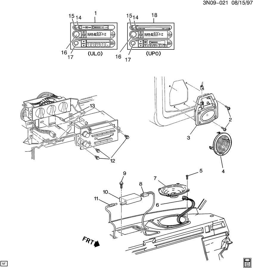 1998 Oldsmobile Cutlass AUDIO SYSTEM