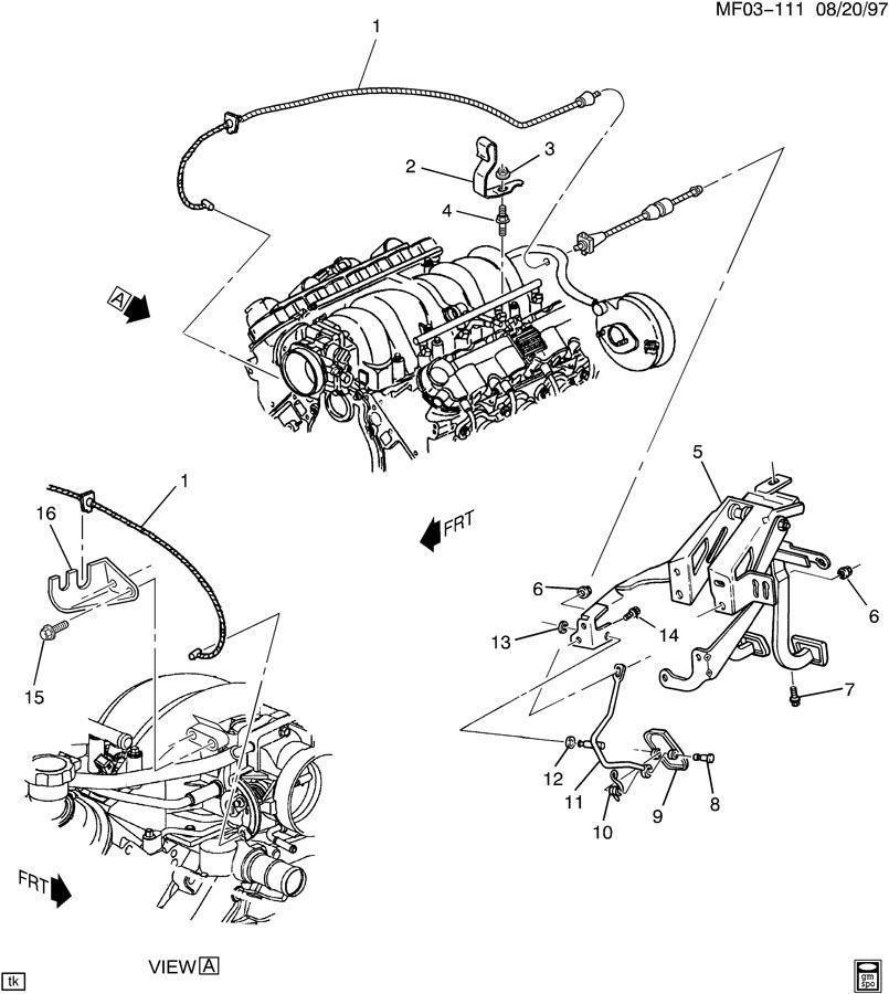 1999 Pontiac Firebird Trans Am ACCELERATOR CONTROL-V8