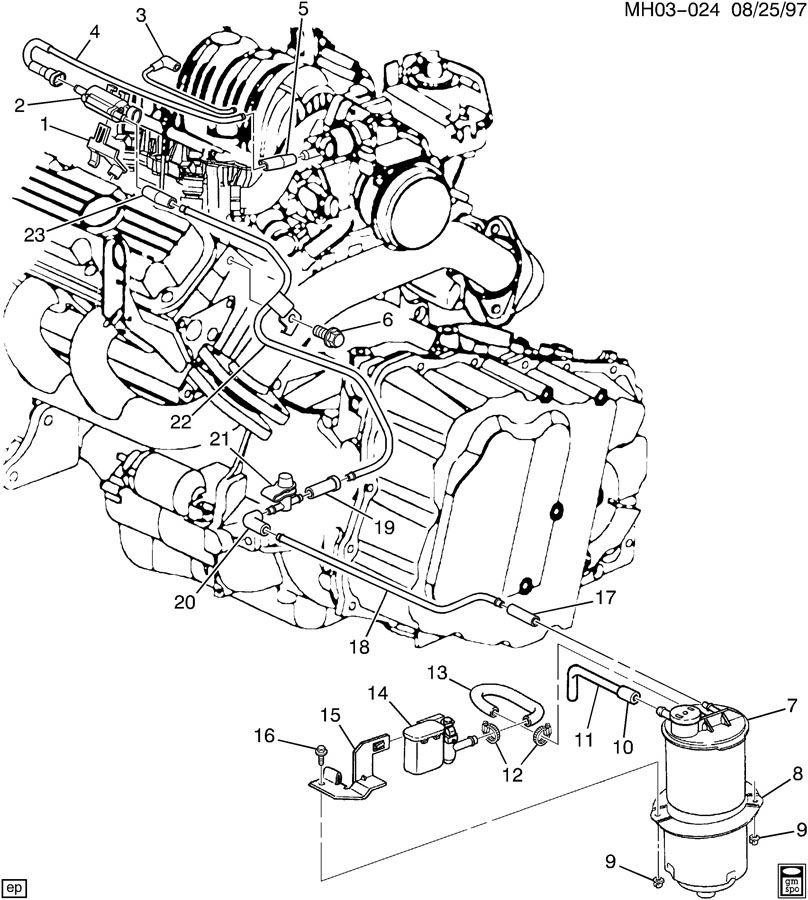 VAPOR CANISTER & RELATED PARTS-V6 3.8K
