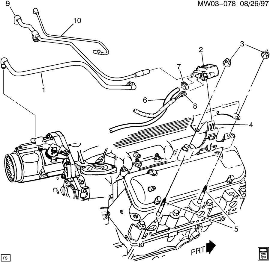 1999 Buick Century VAPOR CANISTER LINES & VALVE