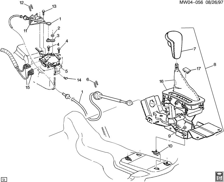 SHIFT CONTROL/AUTOMATIC TRANSMISSION FLOOR