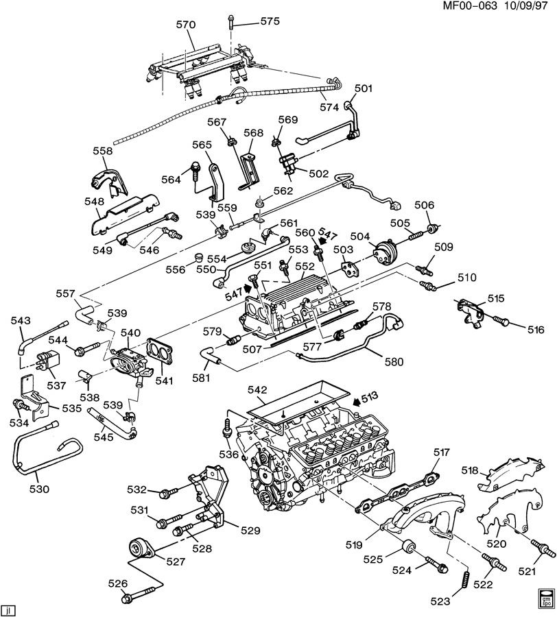 ENGINE ASM-5.7L V8 PART 5 MANIFOLDS & FUEL RELATED PARTS