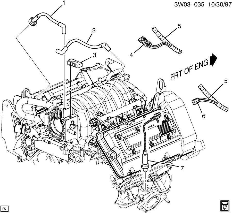 1999 Oldsmobile Intrigue M.A.P. & OXYGEN SENSORS