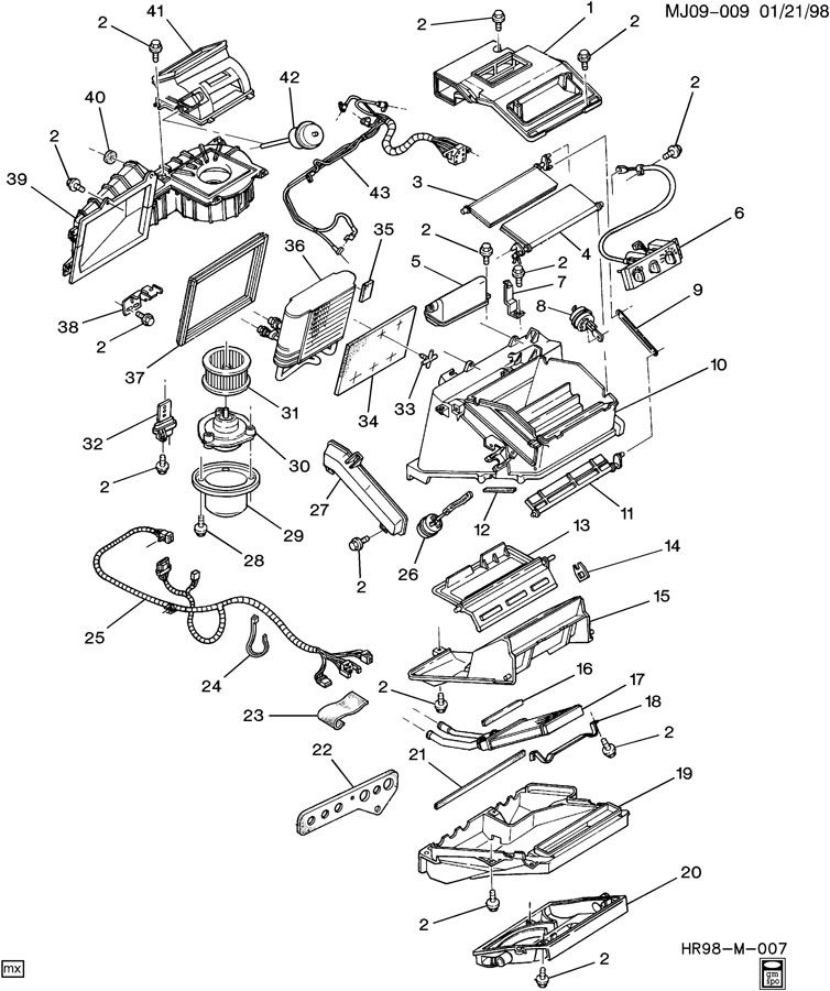 Chevrolet Cavalier A/C & HEATER MODULE ASM