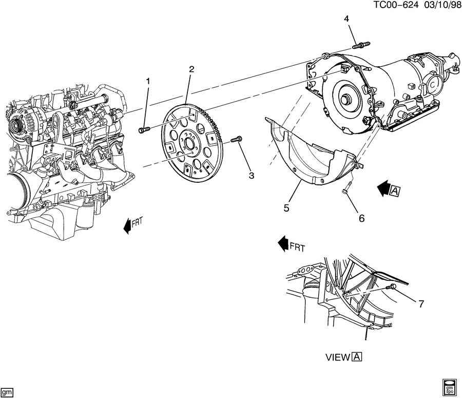Chevrolet Tahoe ENGINE TO TRANSMISSION MOUNTING