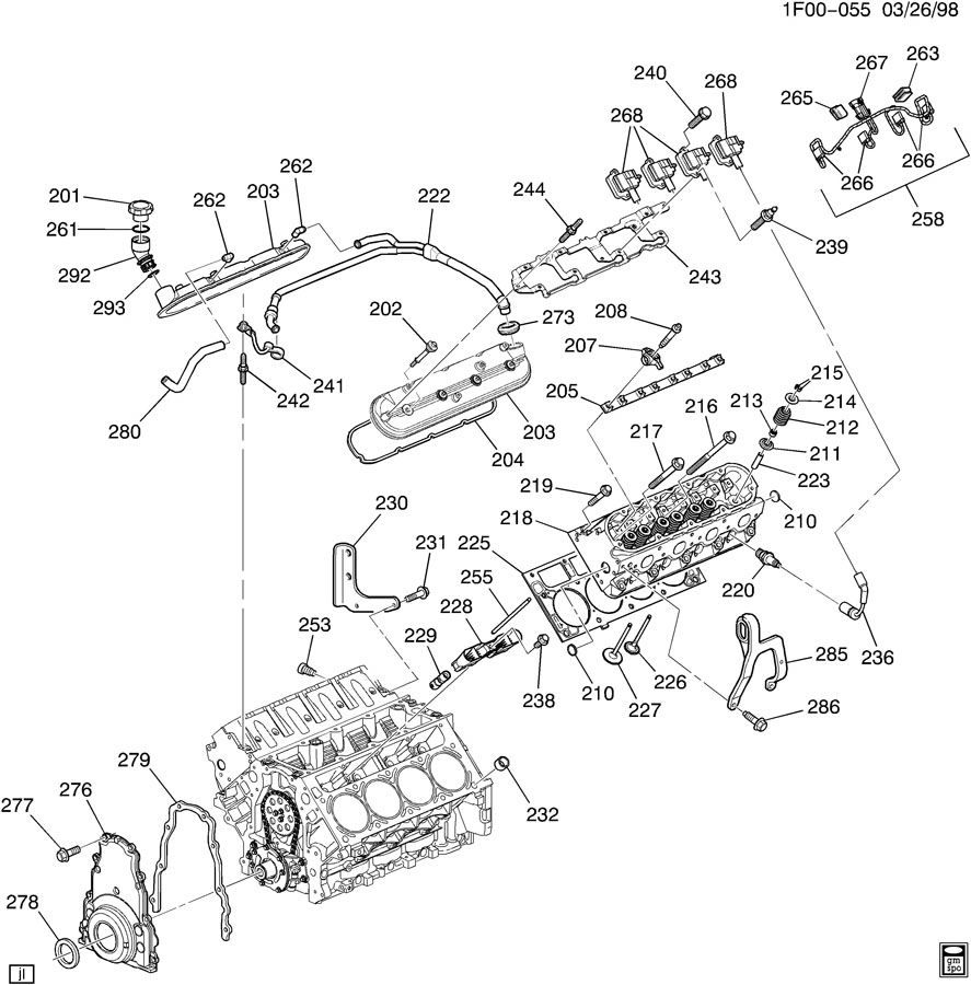 ENGINE ASM-5.7L V8 PART 2 CYLINDER HEAD AND RELATED PARTS
