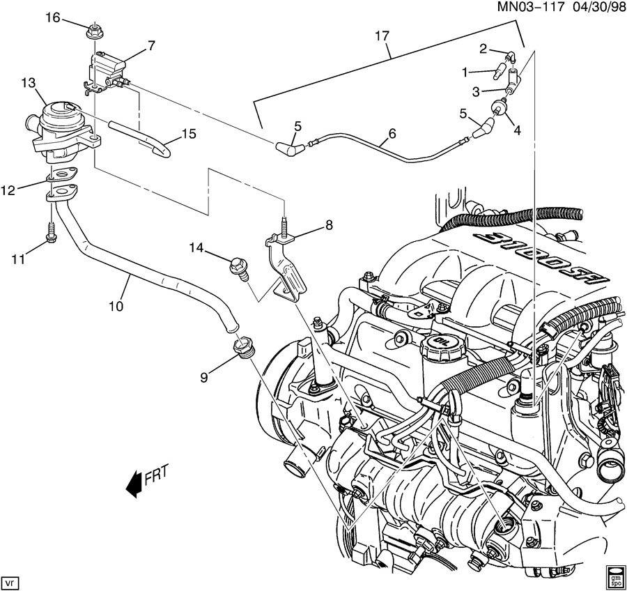 2001 Pontiac MONTANA A.I.R. PUMP SECONDARY AIR INJECTION