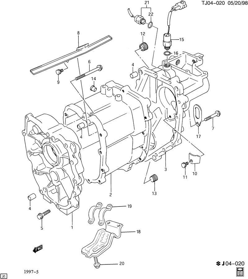 Service manual [1997 Geo Tracker Transmission Interlock