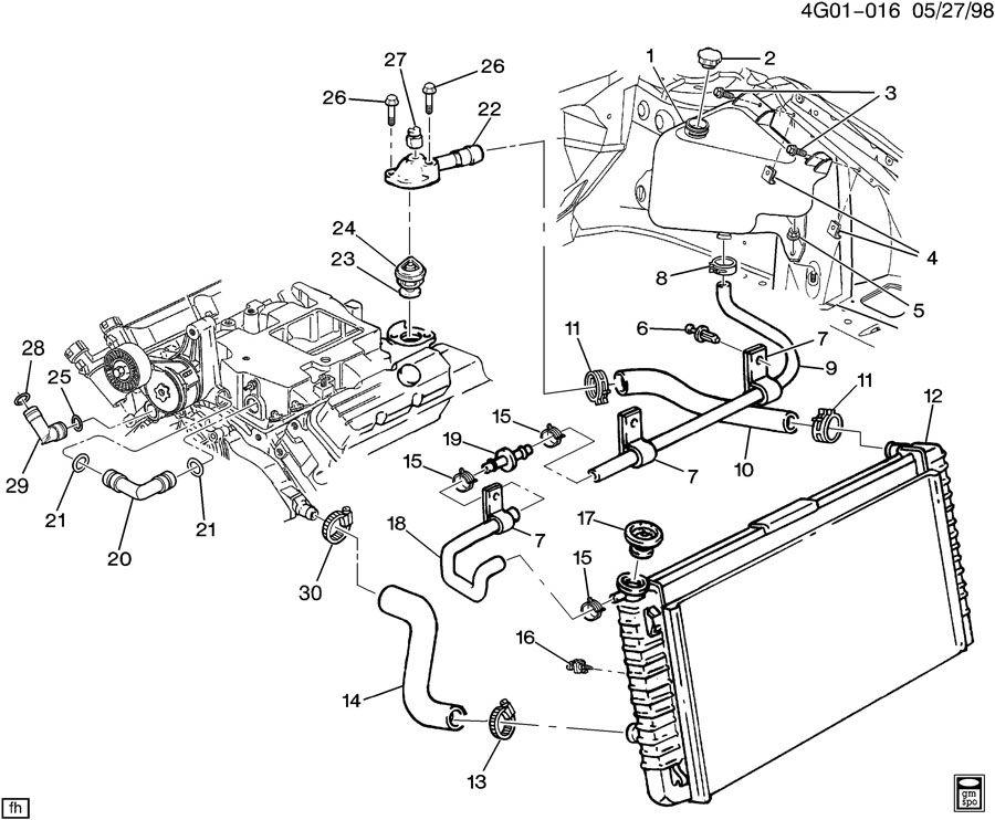 HOSES & PIPES/RADIATOR-V6