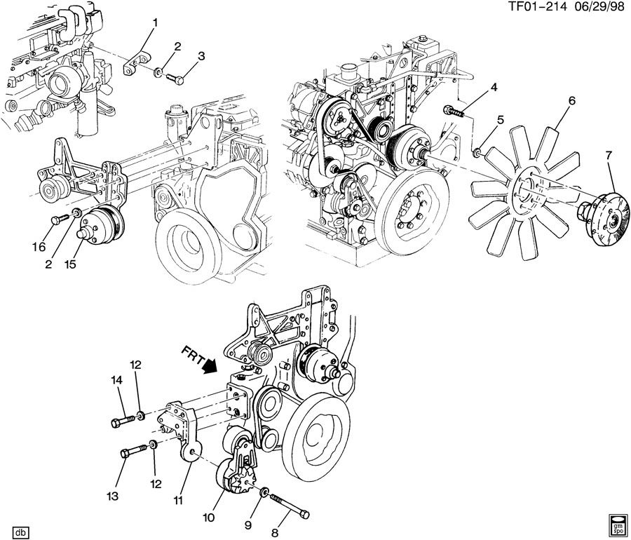 Caterpillar 3126 Fan Diagram, Caterpillar, Free Engine