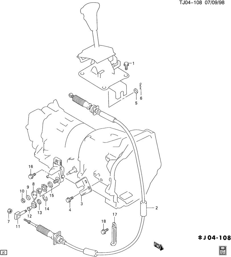 Suzuki Sidekick Automatic Transmission Diagram