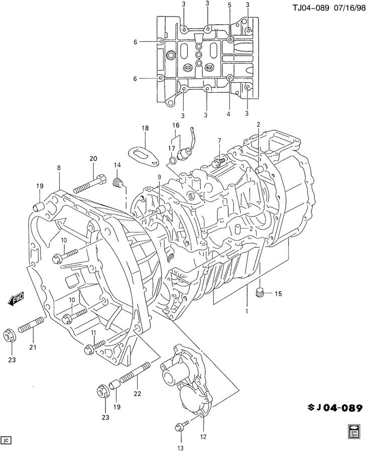 Chevrolet MANUAL TRANSMISSION, CASE, CLUTCH HOUSING