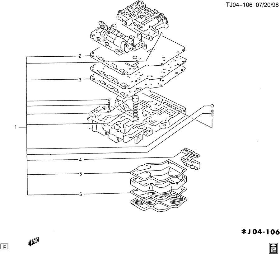 1994 Geo Metro Automatic Transmission Diagram. Wire. Auto
