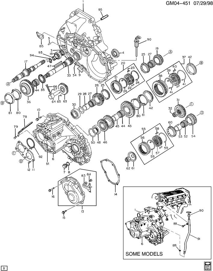 1997 Pontiac 5-SPEED MANUAL TRANSAXLE PART 1