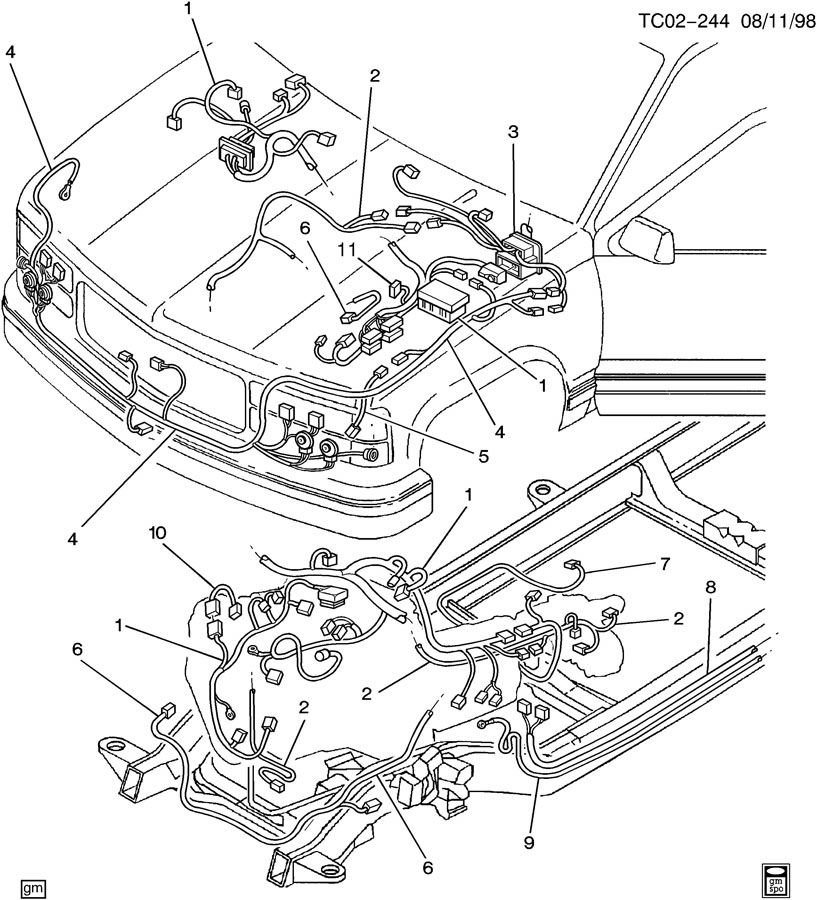 CK307,309; CK310,314,318 WIRING HARNESS FRONT; WIRING