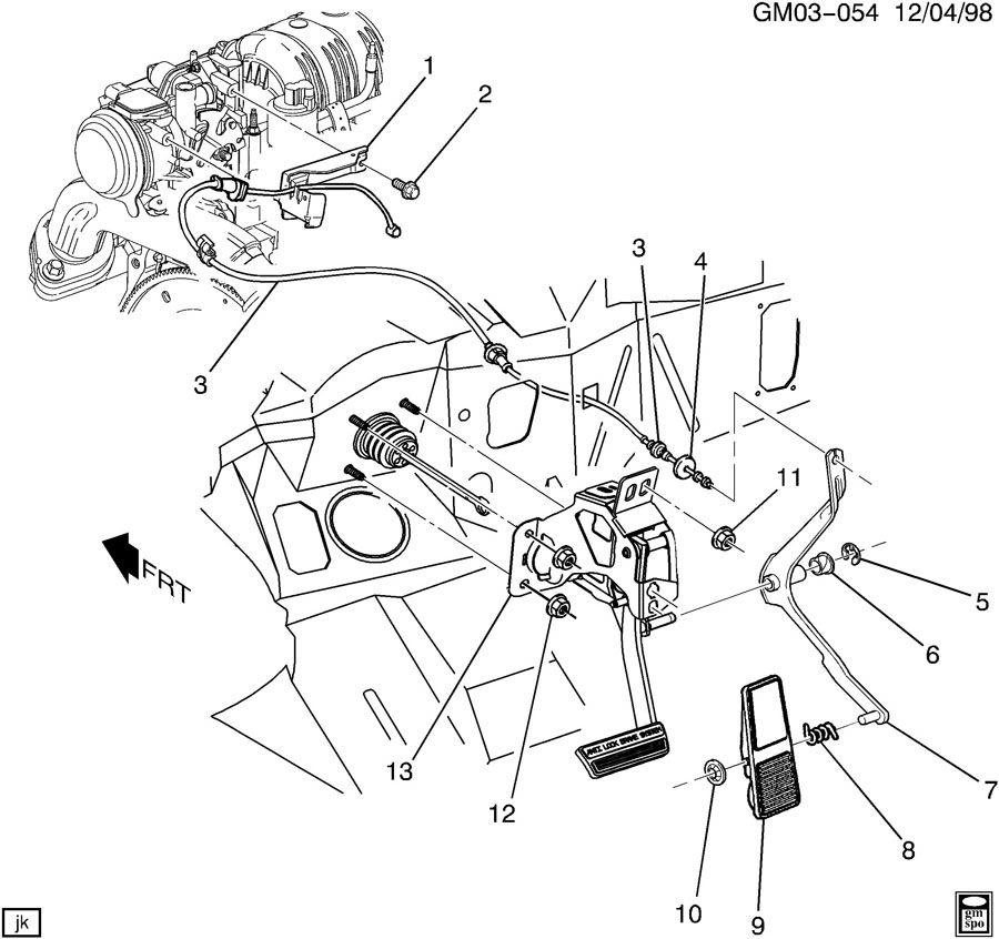 2003 Buick Lesabre ULTRA ACCELERATOR CONTROL