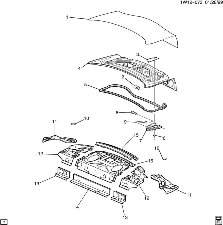 2002 Chevrolet Impala SHEET METAL/BODY-REAR END