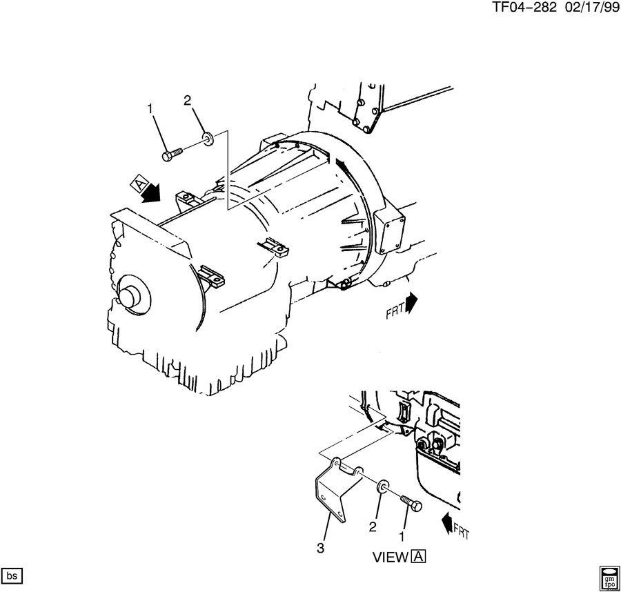 TRANSMISSION TO ENGINE MOUNTING AUTO TRANS MWF & LG5/CAT 3126