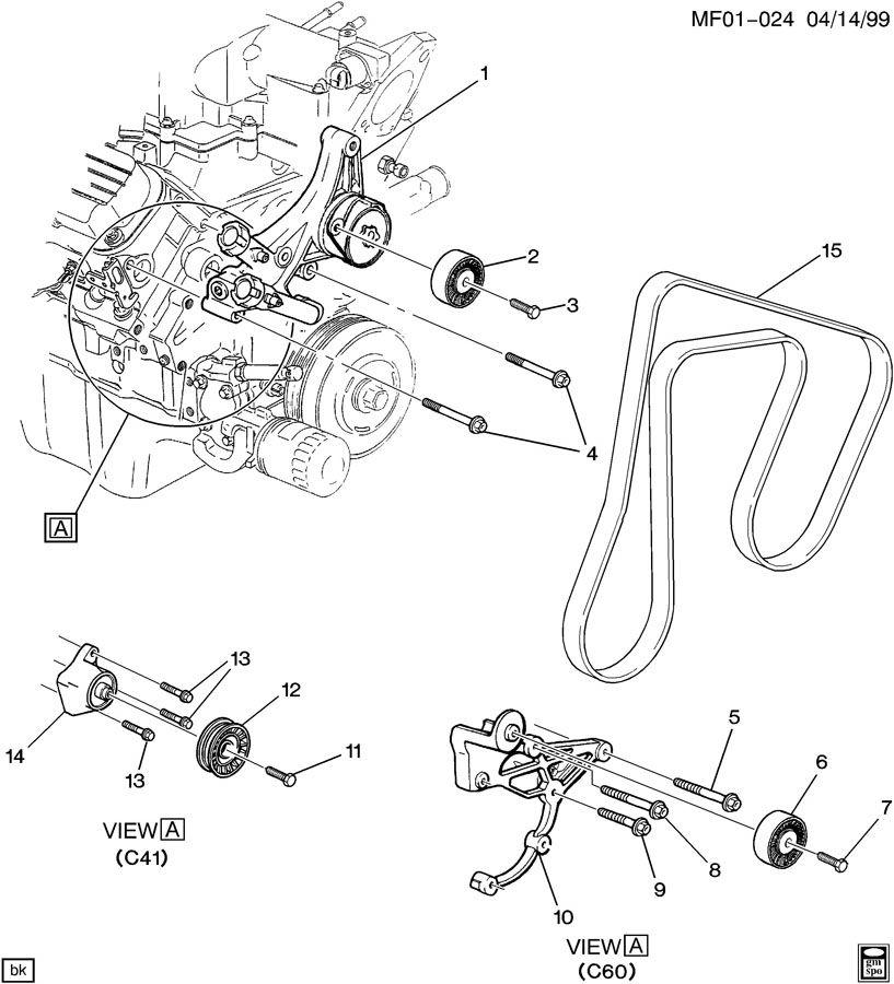 TENSIONER/DRIVE BELT & IDLER PULLEYS