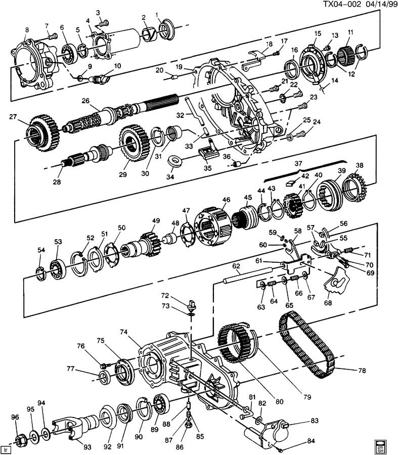 2000 Chevy Blazer Transfer Case Vacuum Diagram, 2000, Free