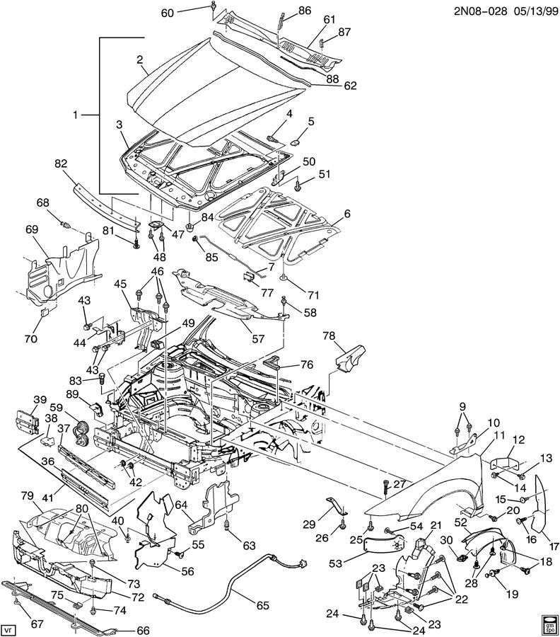 1999 Oldsmobile Alero Belt Routing Diagram