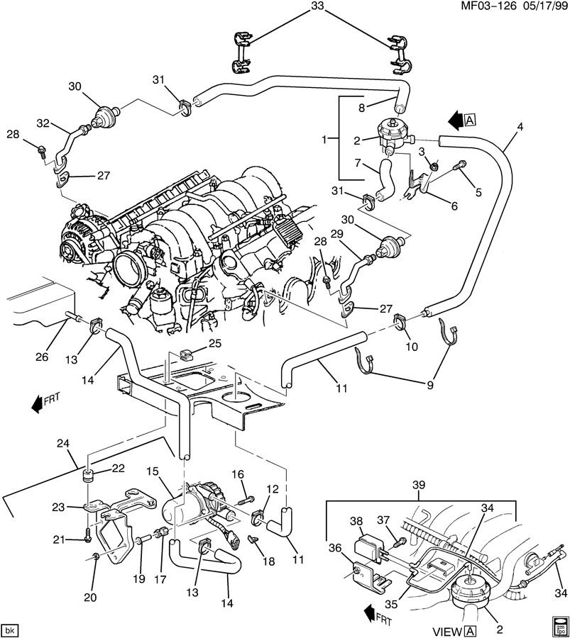 Pontiac MONTANA A.I.R. PUMP & RELATED PARTS