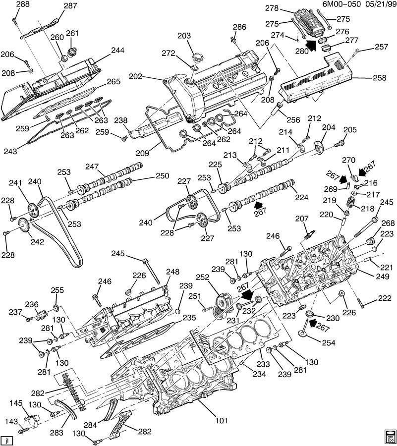 north star engine diagram cadillac 5n4v9