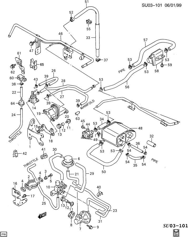 Chevrolet EMISSION CONTROLS LP2 1.0L 3 CYL ENG