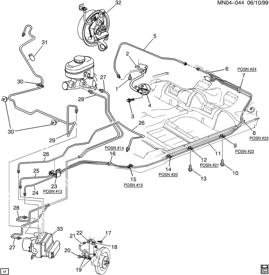 2001 Pontiac Grand Prix Rear Brake Diagram