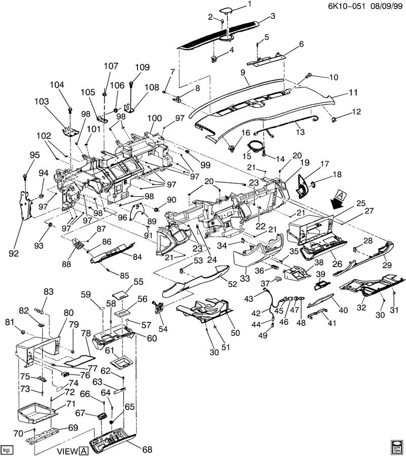 Service manual [2005 Cadillac Deville Glove Box Removal