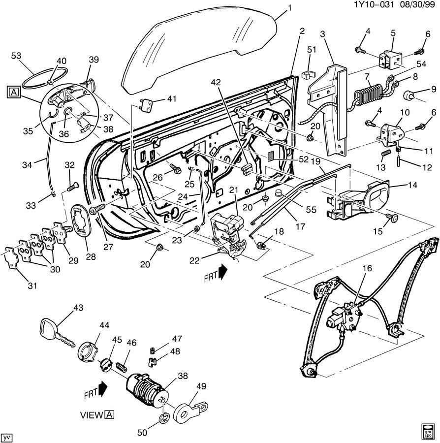 1999 Chevrolet Corvette DOOR HARDWARE/FRONT