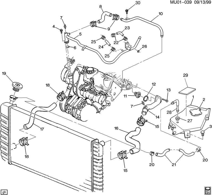 2000 Chevy Venture Rear Heater Core Diagram Wiring