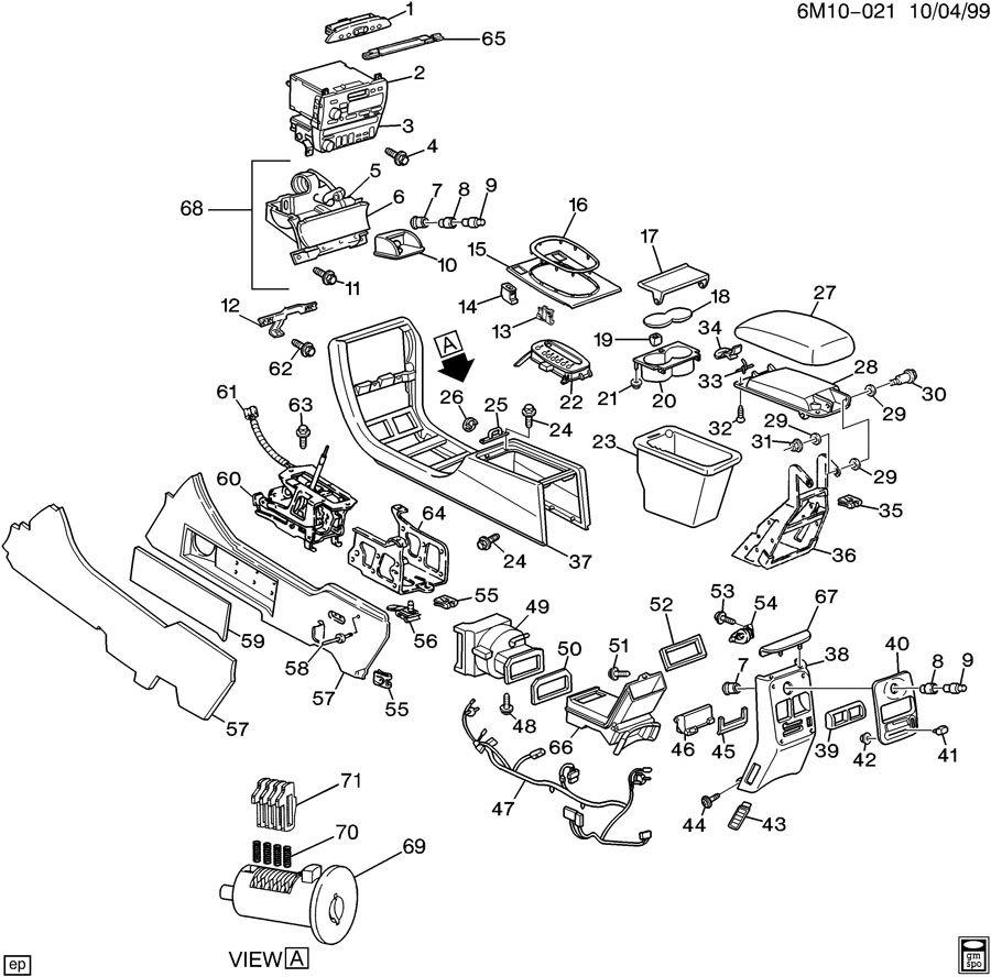 Service manual [1997 Cadillac Deville Console Removal
