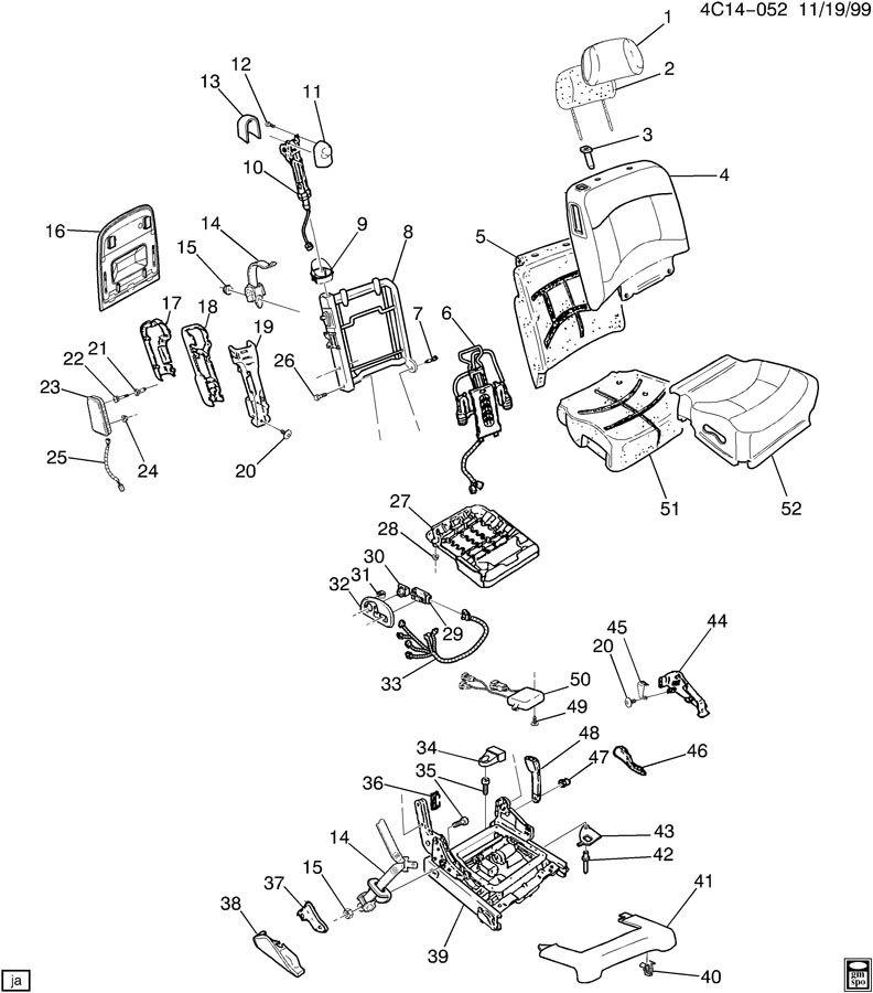 Service manual [2002 Buick Park Avenue Bucket Seat Armrest