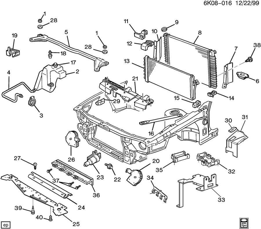 Service manual [Fender To Radiator Brace Removal 1996