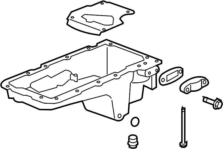 ENGINE ASM-5.3L V8 PART 4 OIL PUMP, PAN & RELATED PARTS