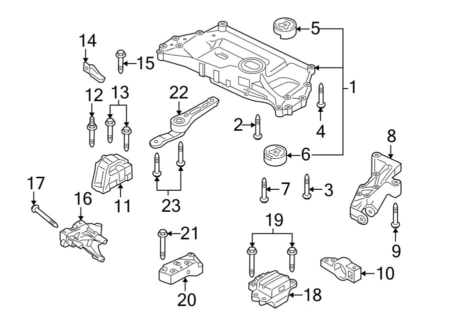 2013 Volkswagen GTI Base Suspension. Subframe. Crossmember