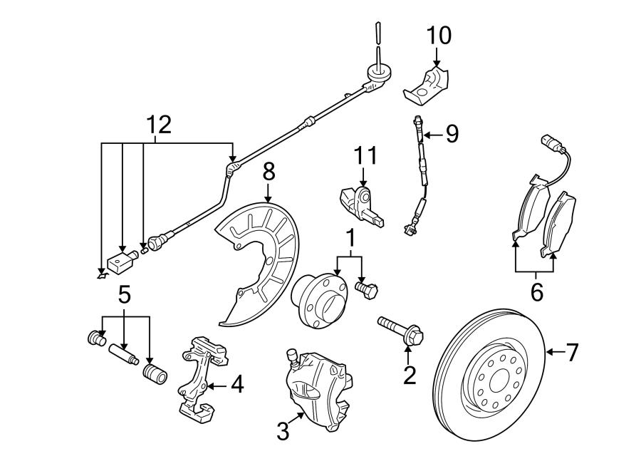 2008 Volkswagen Abs sensor wire. Abs wheel speed sensor