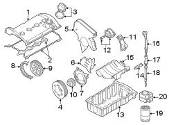Volkswagen Beetle Convertible Beltdamper. Engine timing