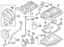 2013 Volkswagen Engine Oil Pan Baffle. Engine Oil Sump