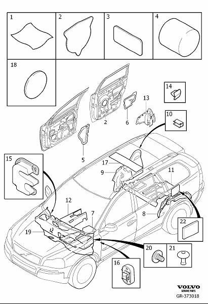 Volvo XC90 Insulating Mat. Insulation, Passenger and Cargo