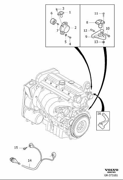 2007 Volvo XC90 Engine Camshaft Position Sensor Bracket