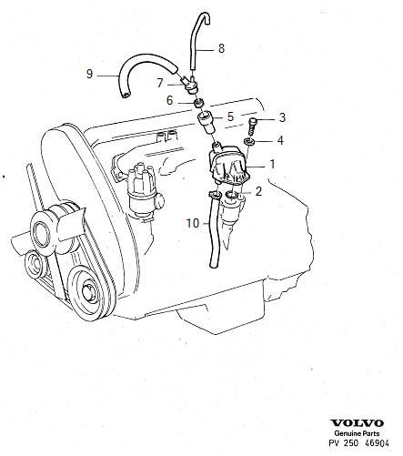 1984 Volvo 240 2.8l Fuel Injected Hose. B17, B19, B21, B23